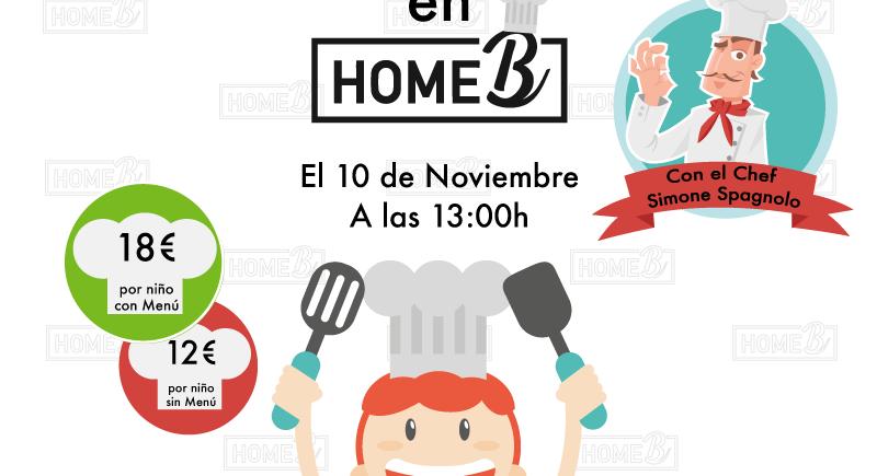 10 de noviembre. Chiclana. Taller de cocina divertida