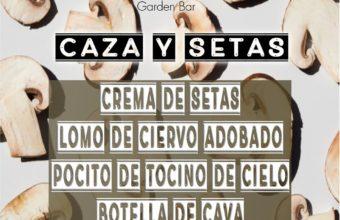 Cenas temáticas de caza y setas en Hontoria Garden de Jerez