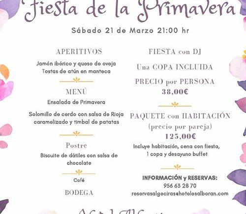 Fiesta de la primavera en el Hotel Alborán (suspendida)
