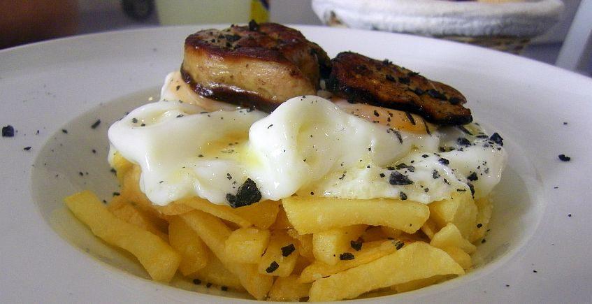 Los huevos con foie de El Burgato de Tarifa