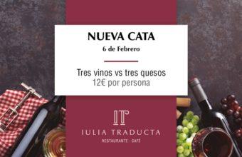 Cata de tres vinos y tres quesos en Iulia Traducta