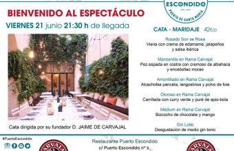 Cata maridaje en Puerto Escondido de El Puerto el 21 de junio