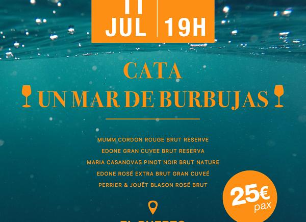 """Cata """"Un mar de burbujas"""" en Vinos y Maridaje de El Puerto el 11 de julio"""