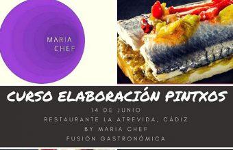 14 de junio. Cádiz. Curso de elaboración de pintxos en Restaurante La Atrevida.