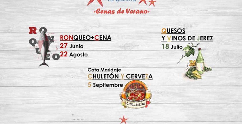Cenas de verano en La Gaviota del 27 de junio al 6 de septiembre