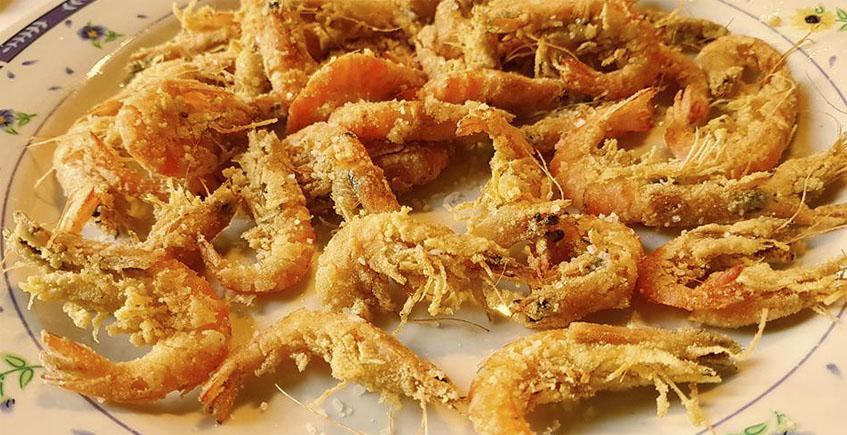 Los langostinos de estero fritos del restaurante Los Esteros