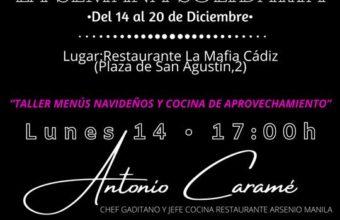 Taller de menús navideños y cata en el Restaurante La Mafia de Cádiz