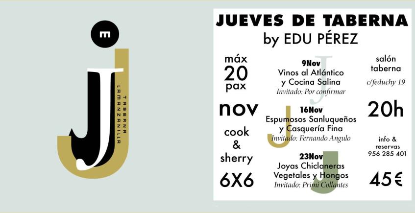9, 16 y 23 de noviembre. Cádiz. Jueves de Taberna en La Manzanilla