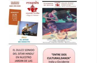 Cena con conciertos de sitar y danza teatro hindú
