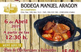 6 de abril. Chiclana. Fiesta de la matanza de la Bodega Manuel Aragón