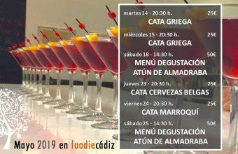 Del 14 al 25 de mayo. Cádiz. Programación de Foodie Cádiz