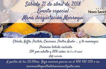 21 de abril. Chiclana. Menú degustación marroquí