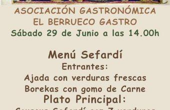 Menú sefardí en El Berrueco Gastro el 29 de junio