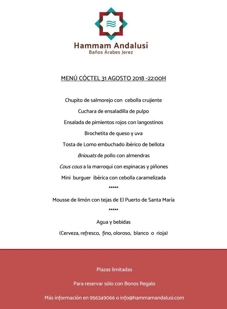 menu coctail 31