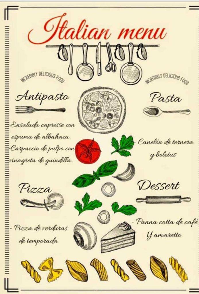 menu italiano847