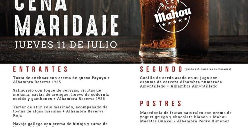 Cena maridaje con cervezas en Bistro Bar Secuencia Nueve de Jerez