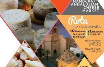 10 Y 11 de noviembre. Rota. Mercado de quesos artesanos de Andalucía