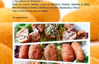 Del 1 al 30 de noviembre. Castellar. Mes de la croqueta en el Restaurante El Aljibe
