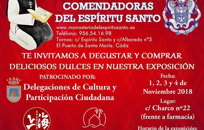 Del 1 al 4 de noviembre. Rota. Exposición de Dulces Artesanos del Monasterio Espíritu Santo