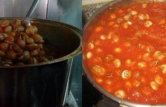 Los caracoles en tomate de la Tasca La Romanera