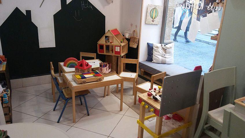 La zona para niños.