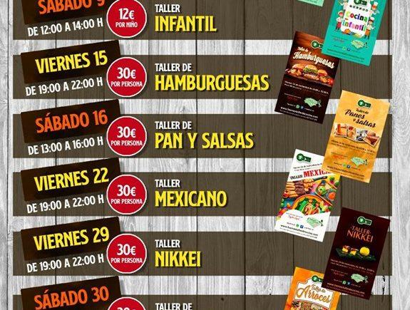 Programación de talleres de cocina de 5 Senses de Jerez para noviembre