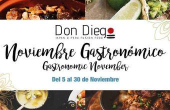Noviembre. San Roque. Noviembre gastronómico en el Restaurante Don Diego