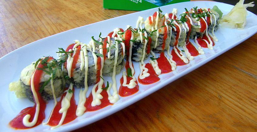 Maki sushi tempurizado de melva canutera
