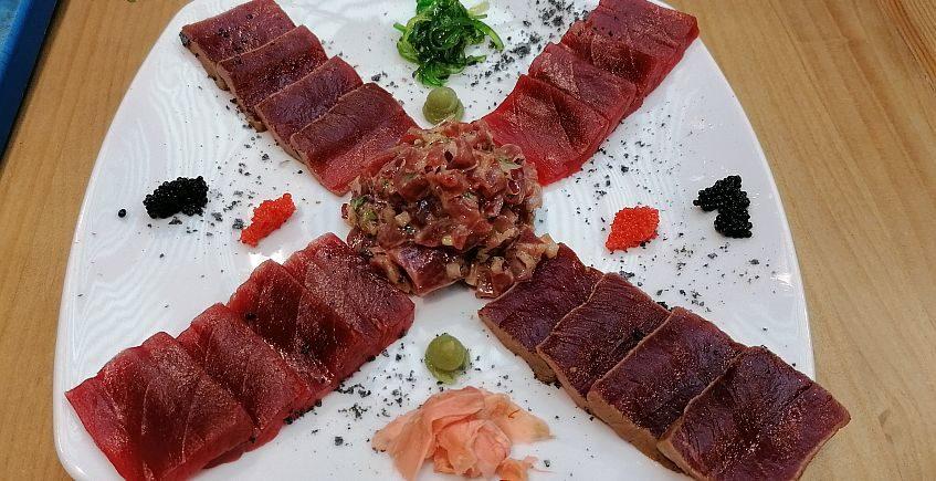 Surtido de crudos de atún rojo de almadraba