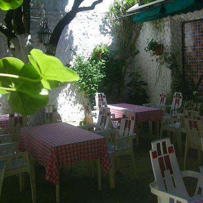El patio del establecimiento.
