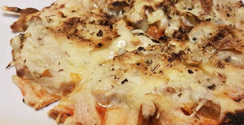 La pizza con setas y chicharrones del restaurante La Divina