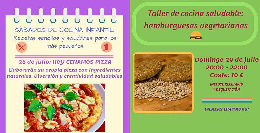 28 y 29 de julio. Chiclana. Taller de pizza (infantil) y de hamburguesas veganas