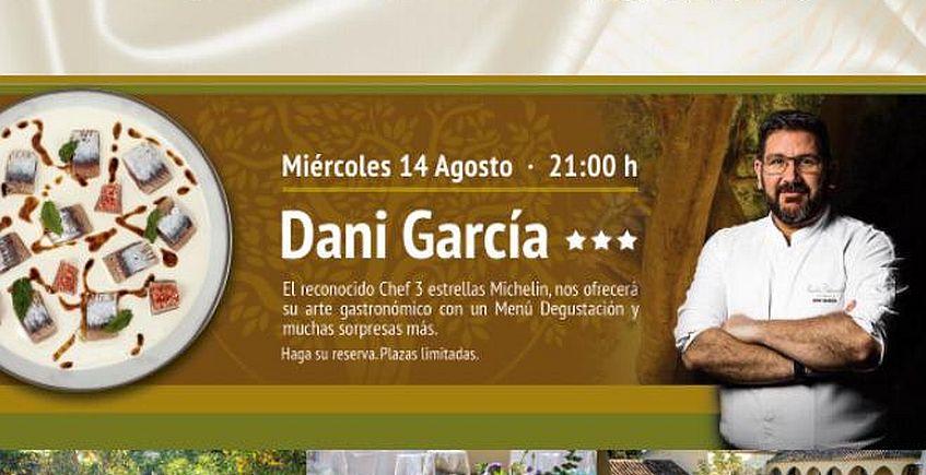 Dani García ofrecerá una cena el 14 de agosto en Cortijo Los Canos de San Roque