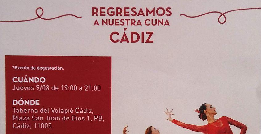 9 de agosto. Cádiz. Degustación por la apertura de Volapié en Cádiz