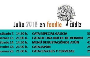 Del 7 al 26 de julio. Cádiz. Catas y degustación en la programación de Foodie Cádiz