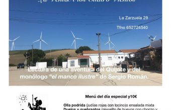 23 de abril. Tarifa. Menú homenaje a Cervantes por el Día del libro en A los Cuatro Vientos