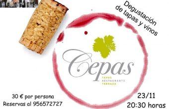 23 de noviembre. Algeciras. Degustación de tapas y vinos por el aniversario del Restaurante Cepas