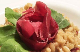 Risotto de bresaola del Restaurante Candelaria