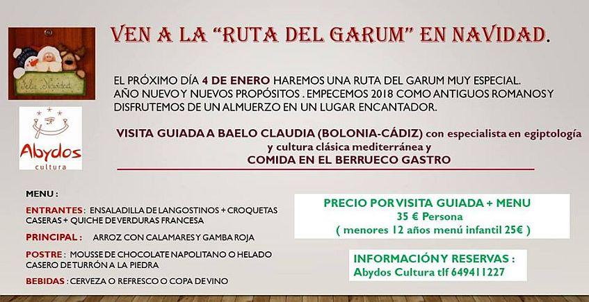 4 de enero. Tarifa y Medina Sidonia. Ruta del Garum