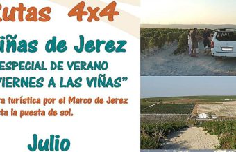 7, 14, 21 y 28 de julio. Jerez. Ruta por el Marco de Jerez en 4x4