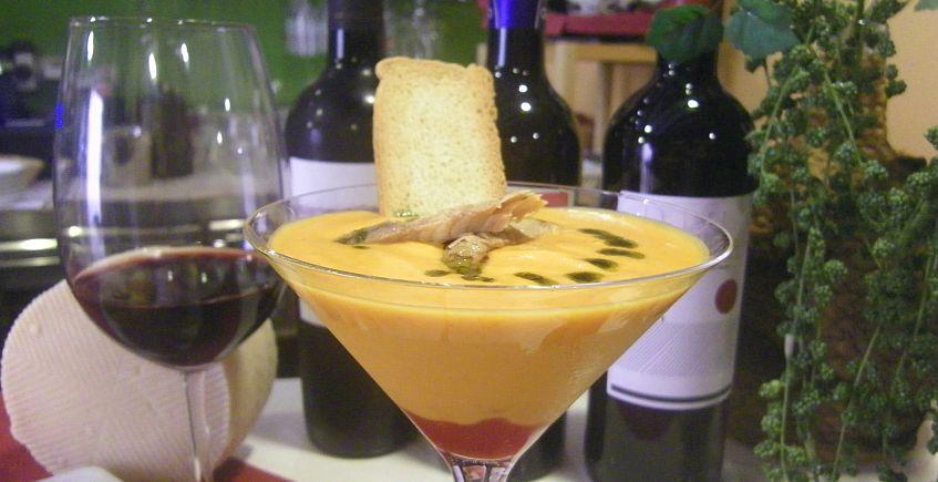 El salmorejo de queso curado del Mesón Casa Antonio