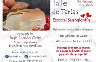 Taller de tartas especial de San Valentín en San Fernando