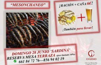 El Mesón Chano de San Roque celebra una sardiná