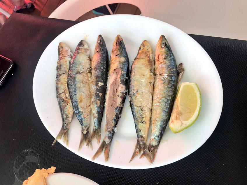 Las sardinas del chiringuito Salvador fotografiadas por el tapatólogo Fernando Pérez.
