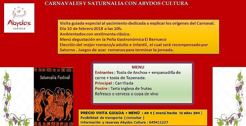 3 de febrero. Tarifa y Medina Sidonia. Carnavales y Saturnalia en Baelo Claudia