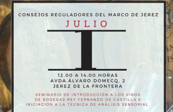 1 de julio. Jerez. Seminario de introducción a los vinos de Rey Fernando de Castilla