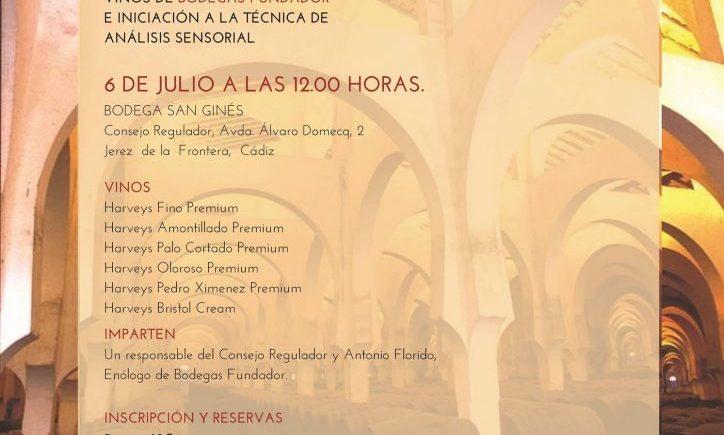 Sesión de iniciación a los vinos de Bodegas Fundador en Jerez el 6 de julio