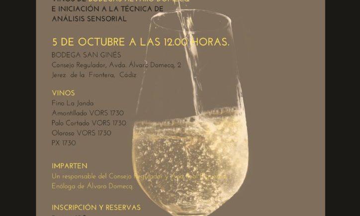 Seminario de Iniciación a los vinos de Jerez el día 5 de octubre