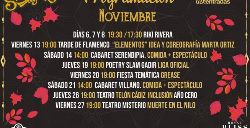 Cabaret y almuerzo en la Sala Serendipia de Cádiz