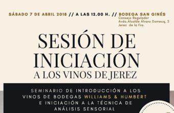 7 de abril. Jerez. Sesión de iniciación a los vinos de Jerez